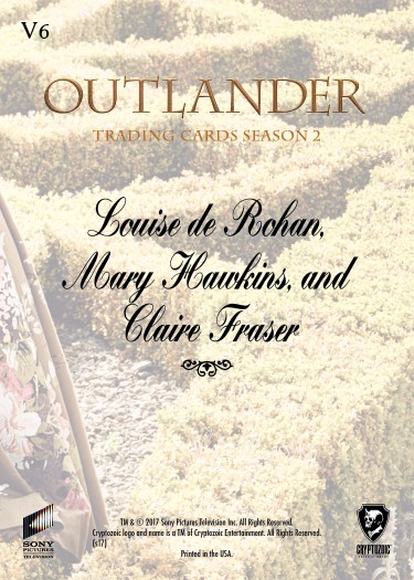 V6b - Louise de Rohan, Mary Hawkins and Claire Fraser