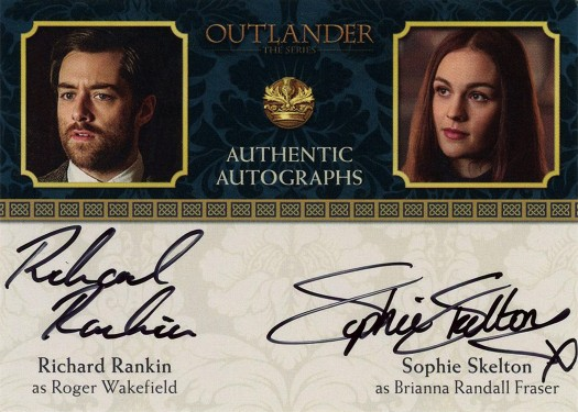 RRSS - Richard Rankin as Roger Wakefield and Sophie Seklton as Brianna Randall Fraser