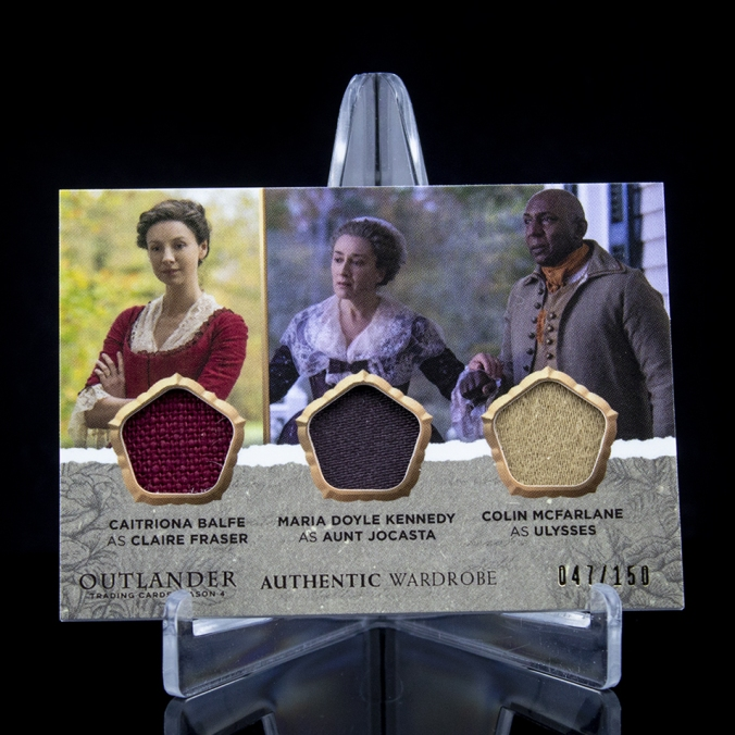 TM02 - Caitriona Balfe as Claire Fraser and Maria Doyle Kennedy as Aunt Jocasta and Colin McFarlane as Ulysses