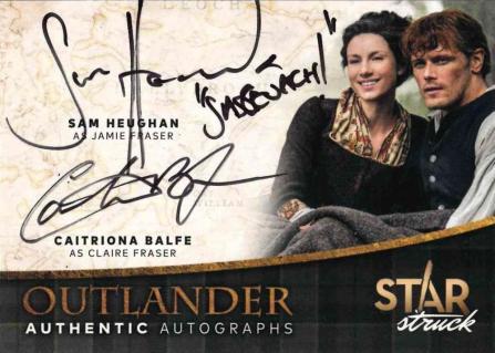 ST-SC – Caitriona Balfe as Claire Fraser and Sam Heughan as Jamie Fraser